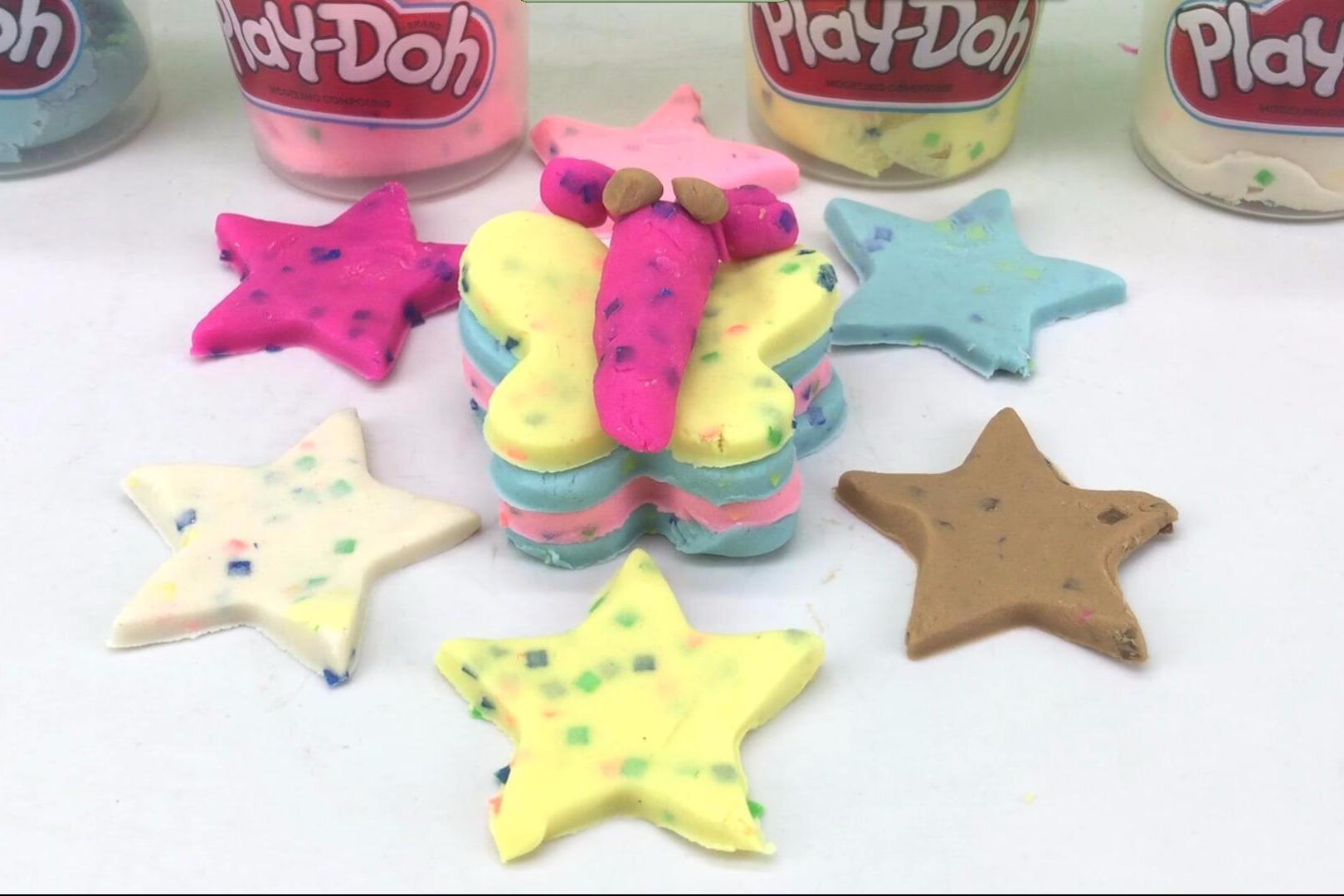 视频:培乐多彩泥黏土手工制作蝴蝶和小星星