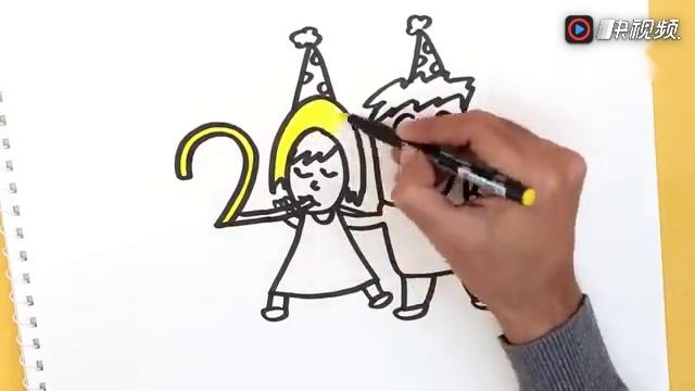 幼儿园创意亲子手工 2018创意简笔画,数字变人物,太不可思议了