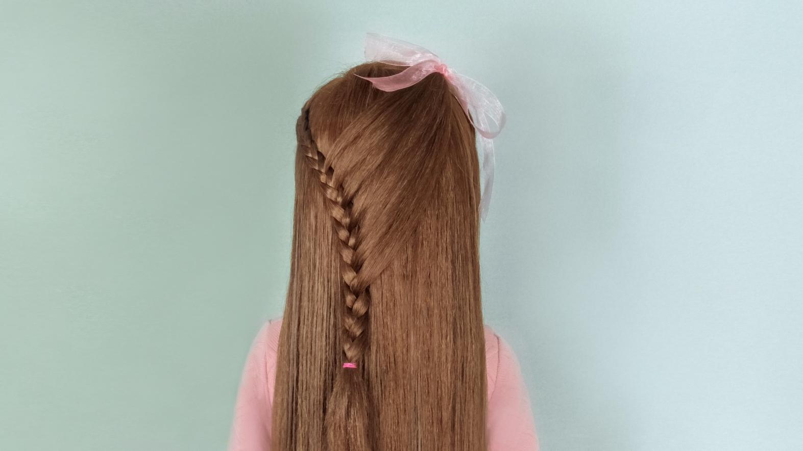 适合小学生的发型长发 儿童发型女孩编发视频