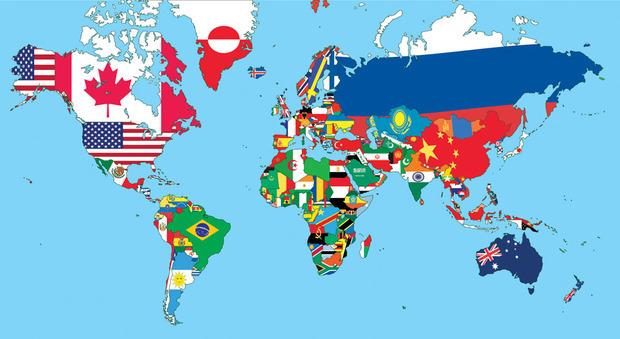世界地图上为什么没有朝鲜国旗?