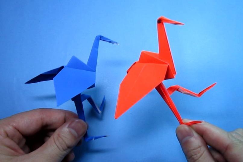 儿童手工折纸丹顶鹤,简单又漂亮的纸鹤折法教程