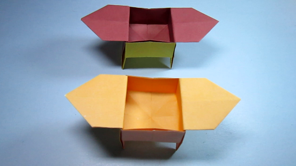 儿童手工折纸书桌收纳盒,简单像鼎一样的收纳盒子折法视频