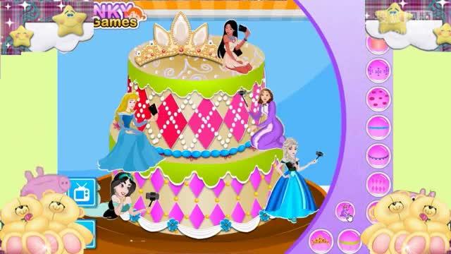 小猪佩奇小游戏手工制作小公主苏菲亚生日蛋糕