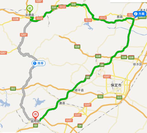 涞源县城街道地图