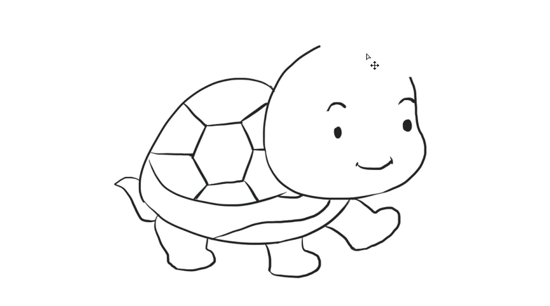 [小林简笔画]教你如何画可爱的小乌龟简笔画画法幼儿儿童绘画教程