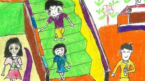 兒童安全知識畫簡單