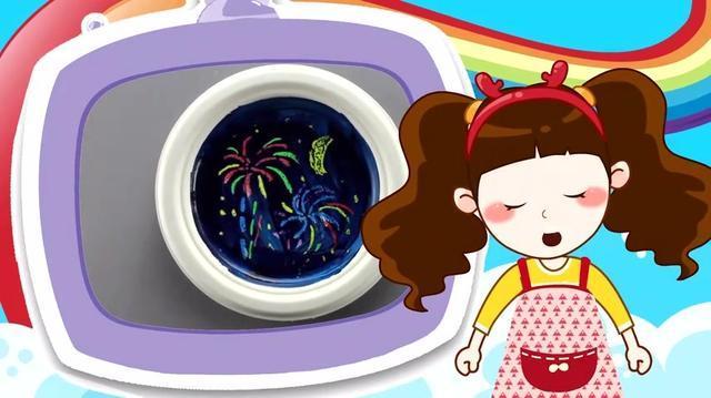 宝宝手工:油水分离画-美丽的烟花(视频图解教程)