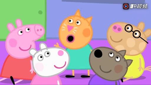 小猪佩奇:佩奇在有幼儿园学数数,和小羊苏西一起跳绳