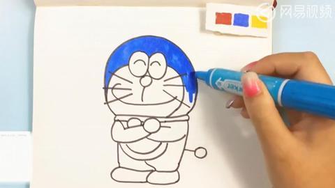 简笔画教程,儿童学画画哆啦a梦