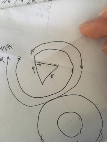一低端出一个三角形一个图纸,三角形在里边,不笔画圆圈电机轴图片