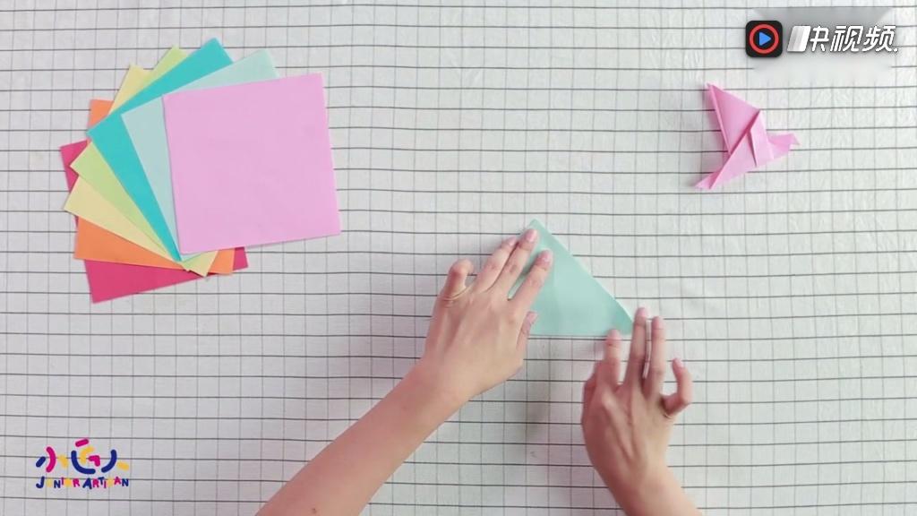 创意美术diy手工制作,鸽子的折法图解视频,教你如何手工折纸鸽子
