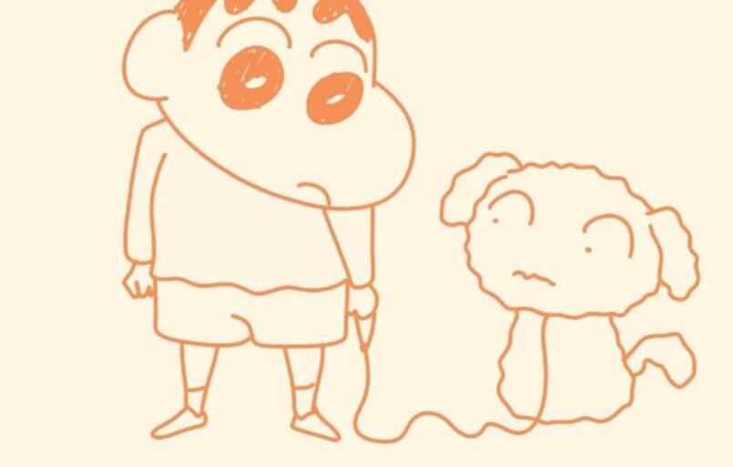 视频-美兰简笔画:画卡通蜡笔小新和小白