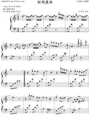 求时间煮雨钢琴谱