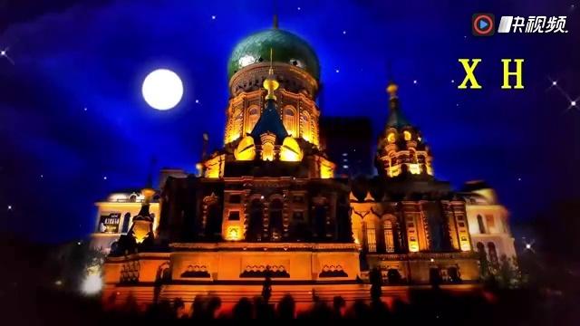 欧式婚礼金色城堡童话故事话剧表演月光粒子led大屏幕背景视频素材