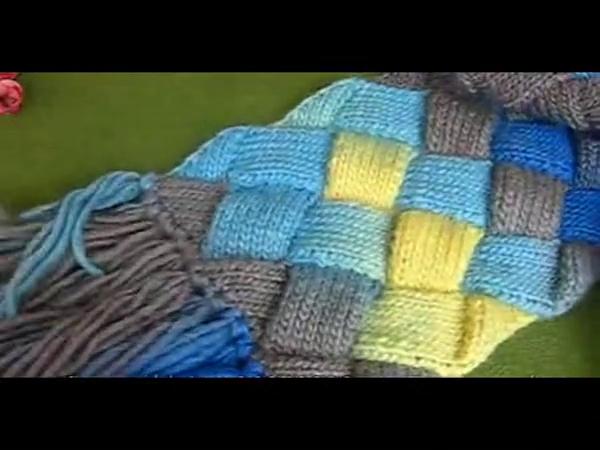 手工制作大全视频 手工编织视频 编织恩彩海浪花片织方块围巾