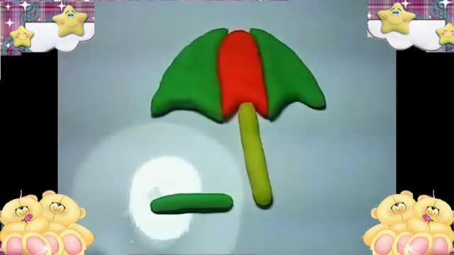 橡皮泥diy手工制作雨伞,酷玩解说