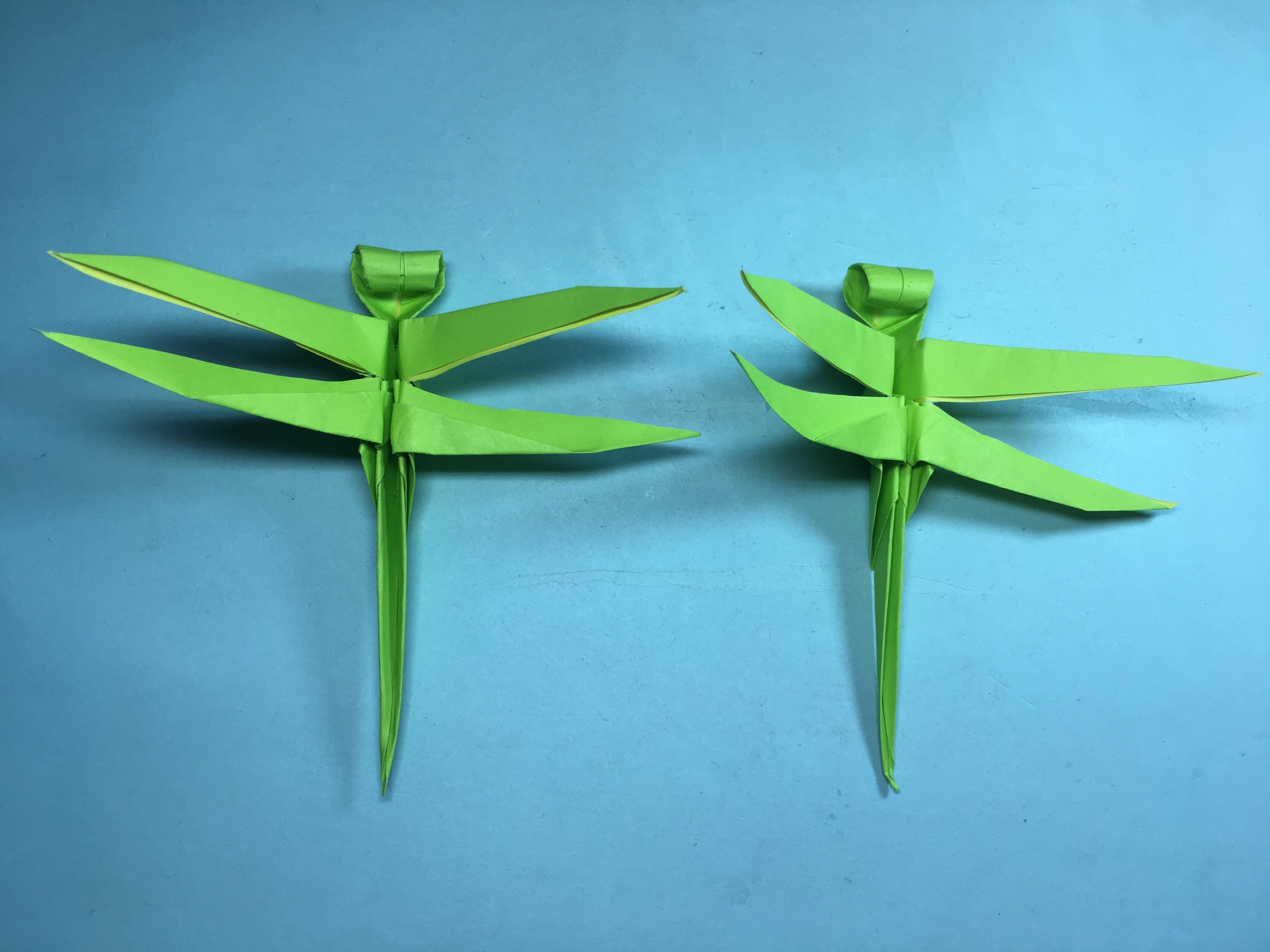 纸艺手工折纸小动物,简单又漂亮蜻蜓的折法
