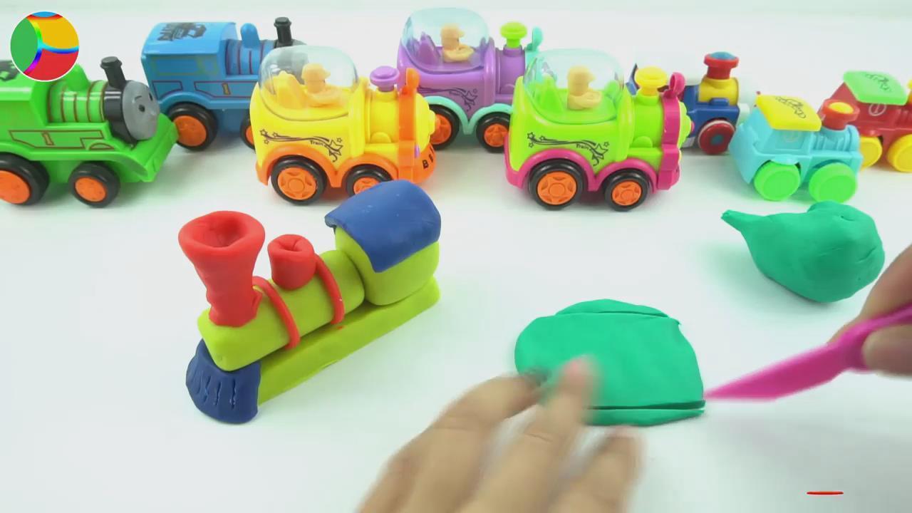 培乐多彩泥手工制作火车,婴幼儿宝宝玩具游戏视频e157
