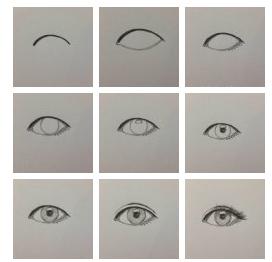 求几张过程教程图片的画风眼睛动漫漫素描爱1图片