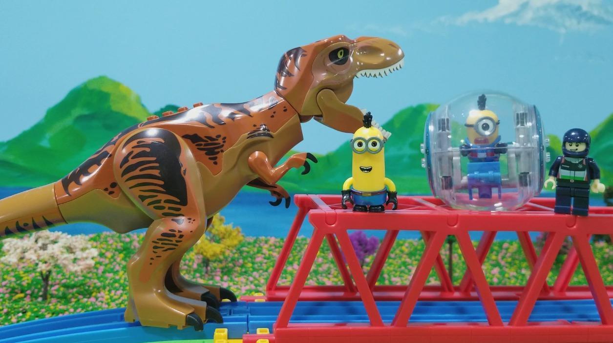 霸王龙乐高组装恐龙积木儿童玩具