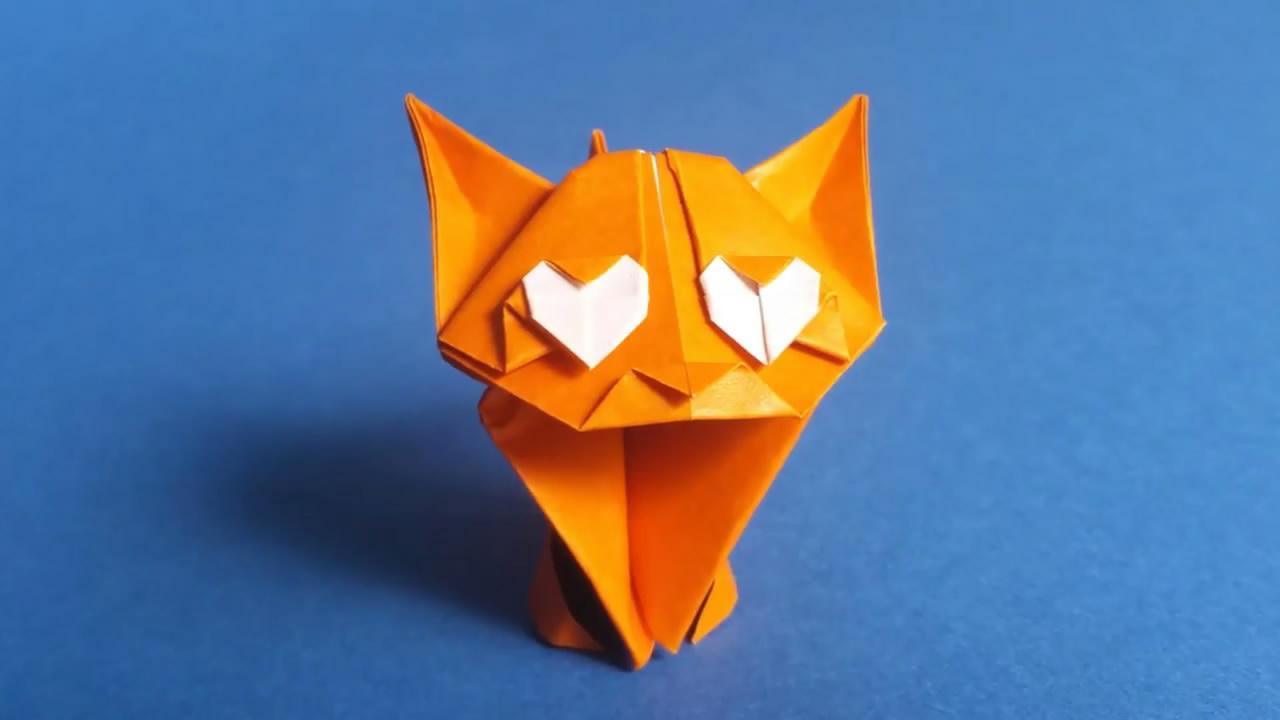 diy折纸 神奇有趣的折纸 小猫咪折纸教学视频