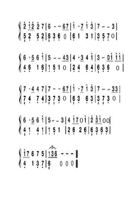 求一份天空之城钢琴版简谱,带指法,最好是初学者也可以弹会的那种