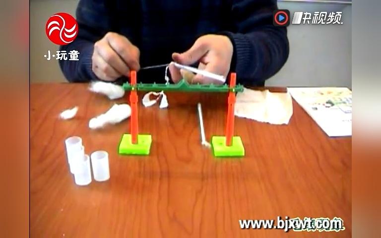 科学实验玩具 小玩童科技小制作 diy手工益智玩具 自制毛细现象