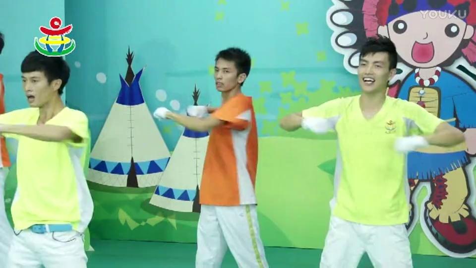 文老师最火幼儿园早操视频《 幼儿园体操》