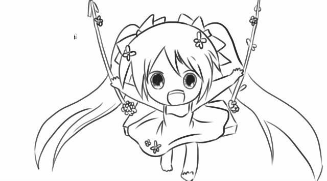[小林简笔画]绘画可爱q版的初音未来卡通动漫简笔画教程