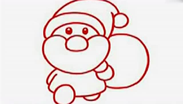 简单易学,圣诞老人简笔画,准妈妈必备技能
