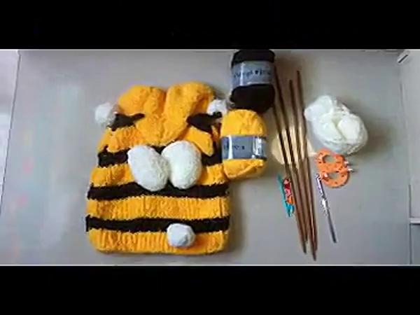 【甜妞手工编织屋】小蜜蜂马甲的织法(上集) 标清