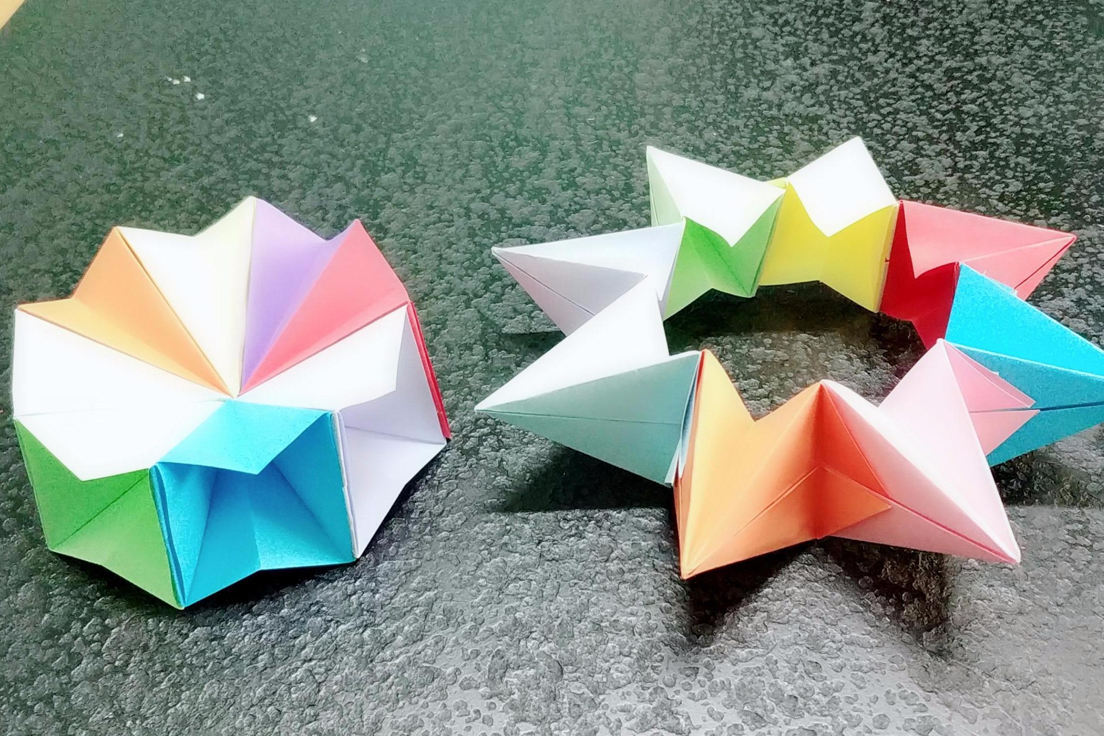 视频-琳儿手工折纸:花式旋转解压魔方,好学又好玩!旋转解压魔方折纸