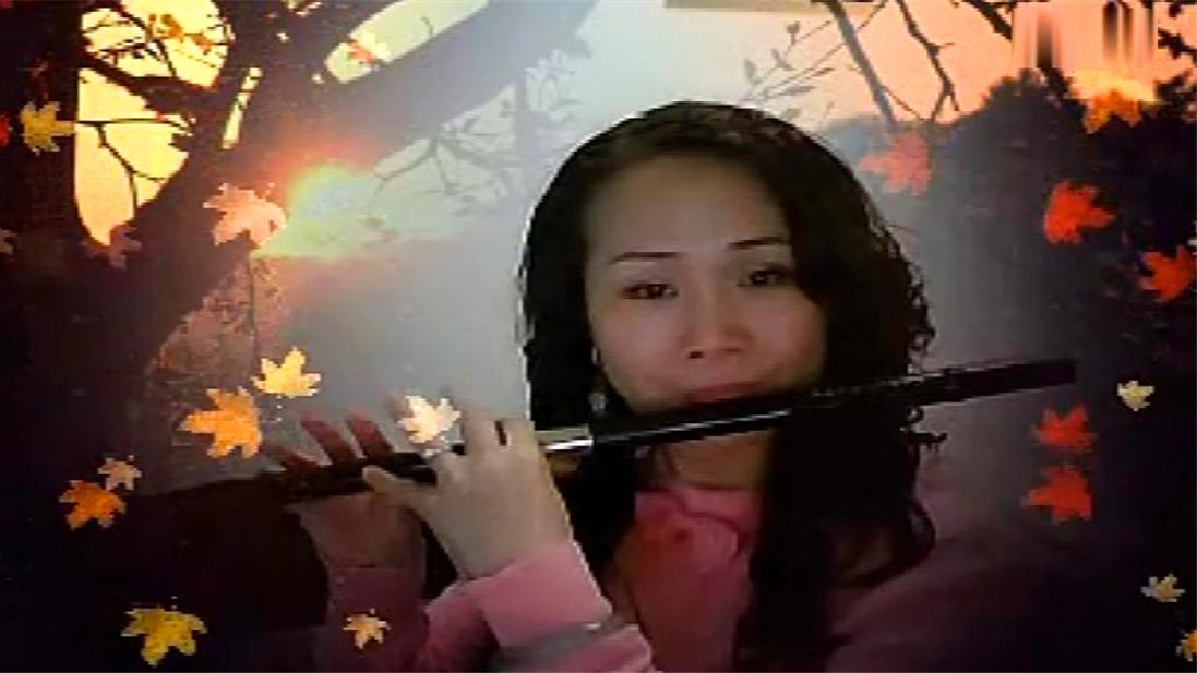 蛮好听的梁祝,美女笛子演奏