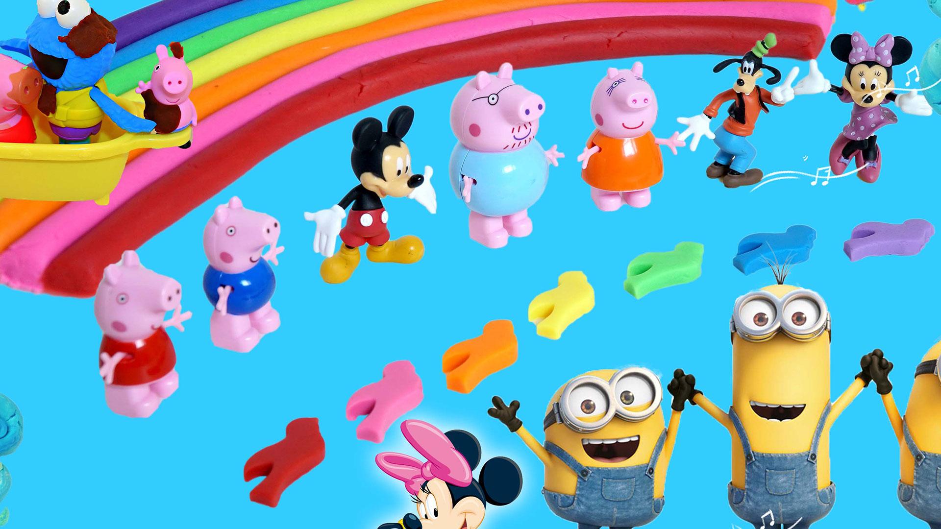 滚滚玩具颜色屋之动物园彩泥七色鸟