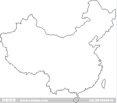 求一张中国地图的CAD图,只要轮廓线,多出来的cad快捷键哪些有图片