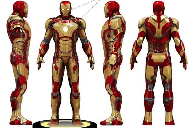 求1比1的钢铁侠盔甲的设计图