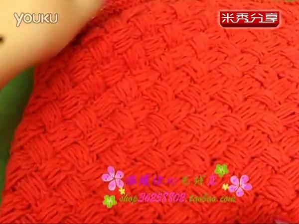 手工编织视频教程 第80集 编织草席花平针