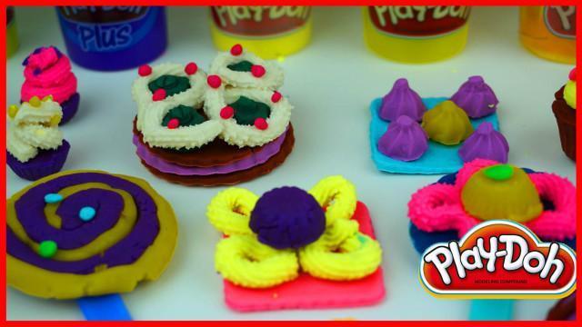 培乐多 橡皮泥 彩泥 蛋糕 小饼干 手工制作 外国糖果