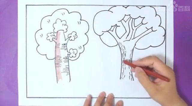 视频-创意美丽简笔画教程:跟着视频轻松画出卡通杨树