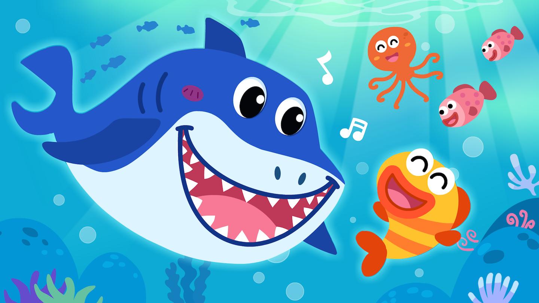 宝宝巴士之动物世界五只鲨鱼找朋友,结果其他动物都被吓跑了