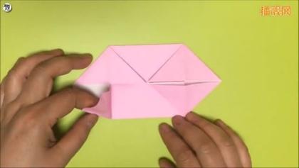 手工折纸教程 小猪的折法
