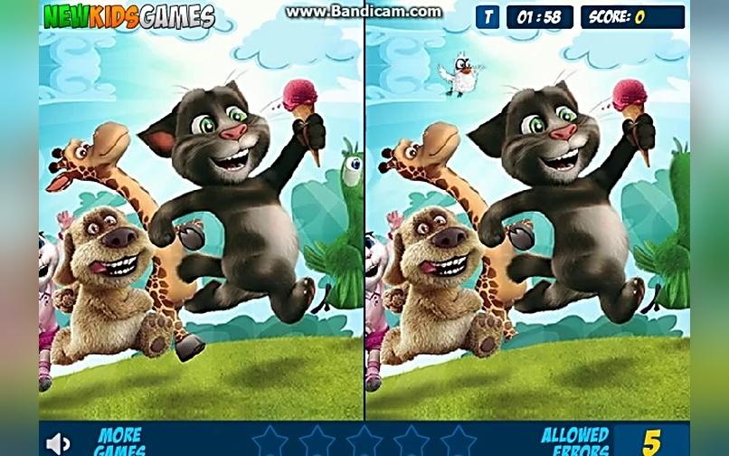 我的会说话的汤姆猫和安吉拉开心找不同游戏