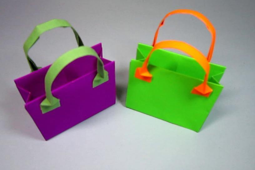 折纸包包简单的手提包 折纸手提包的简单图解教程