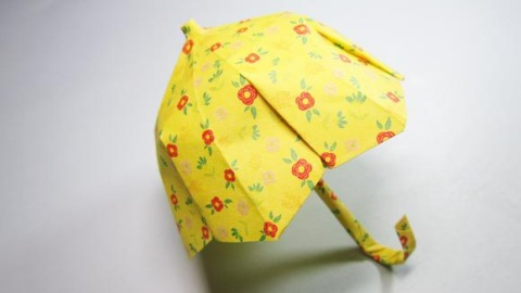 简易折纸雨伞步骤图片