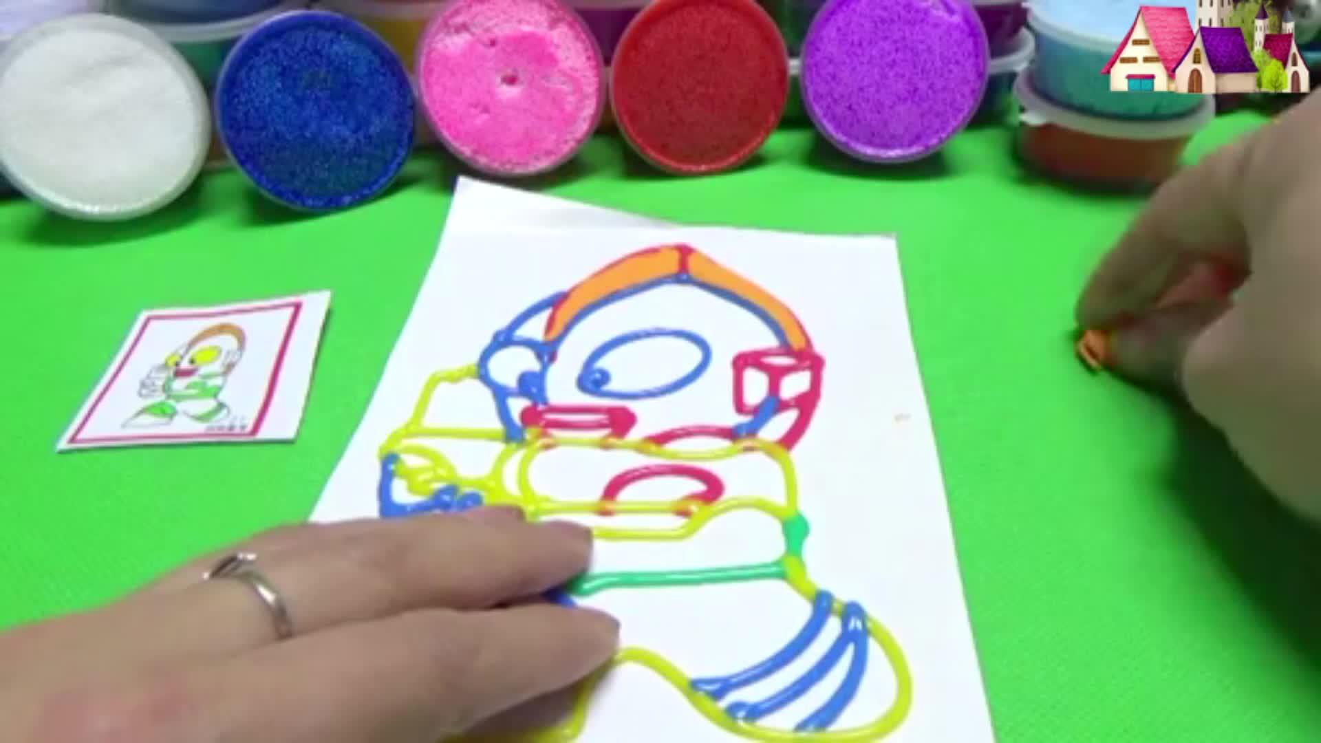 奥特曼粘土画制作 赛文奥特曼手工制作 奥特曼涂色-小猪佩奇玩具.