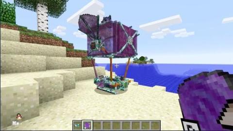 我的世界 小猪佩奇拥有了自己的飞艇!