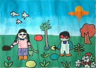 关于环保类型的图画(不要太难,因为我表弟是小学一年级的,跪求!图片