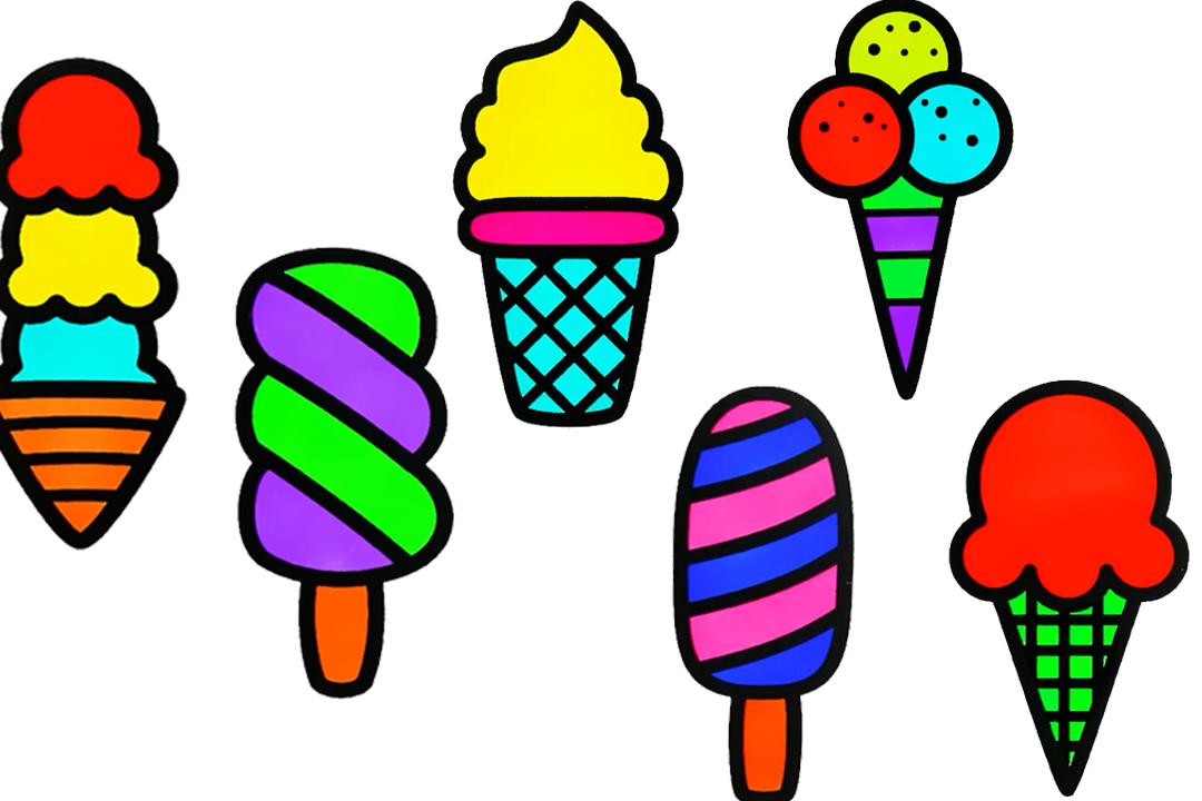 简笔画:简单易学的缤纷冰淇淋简笔画