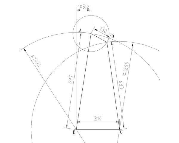 cad两定长图纸相交2007cadv图纸直线图片