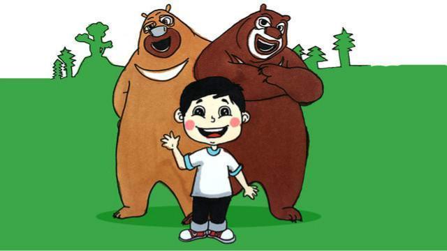 熊出没简笔画 熊大熊二变身自拍狂魔